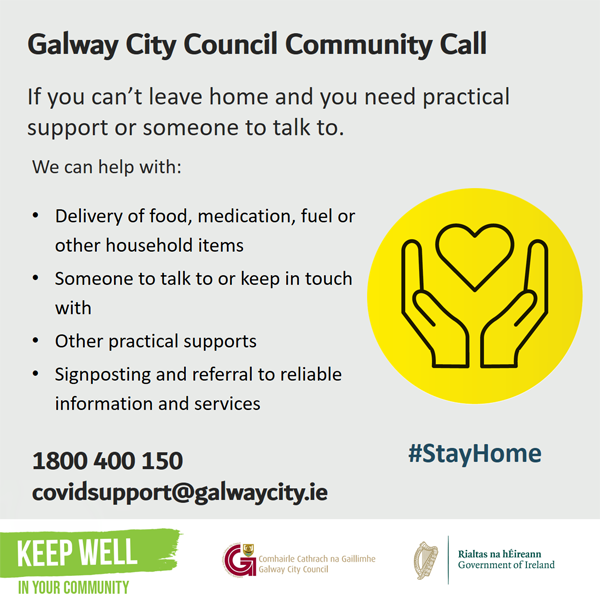 Galway City Community Call English information