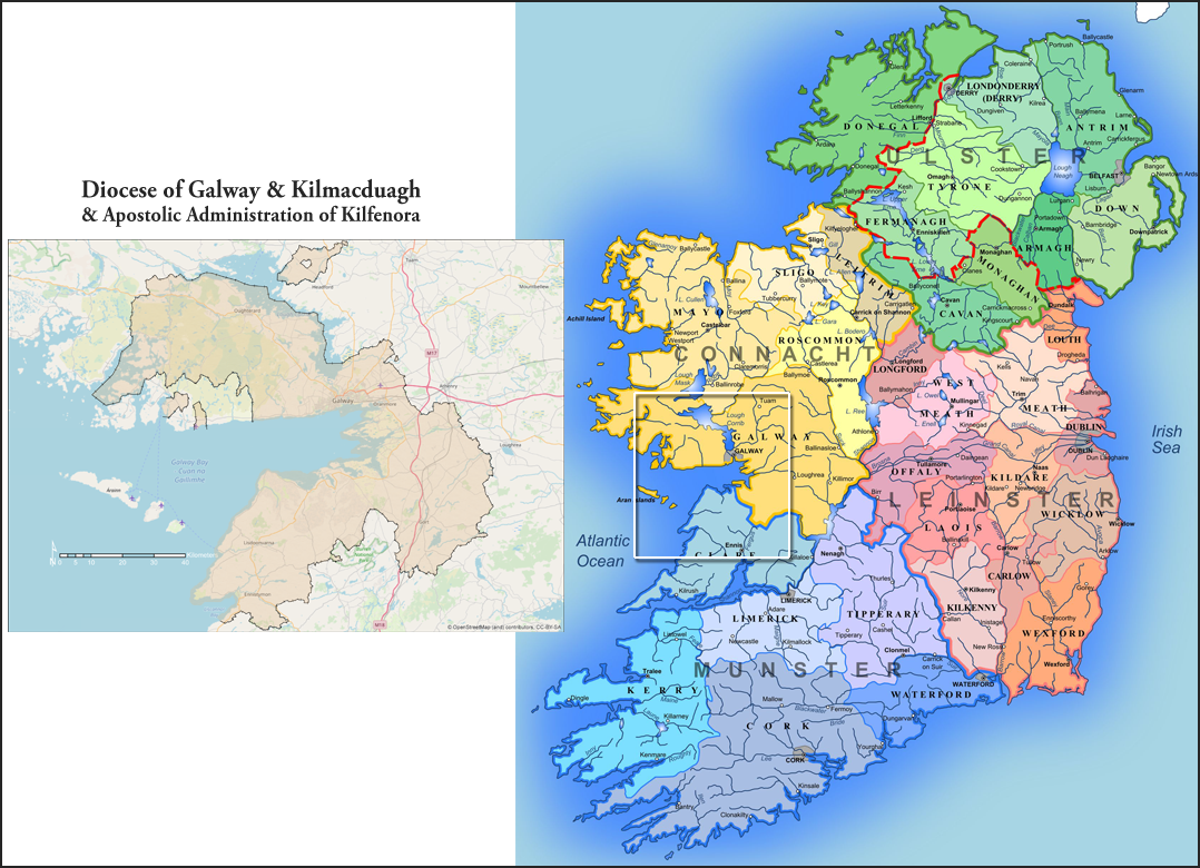 map of diocese relative to ireland
